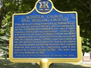 Bethesda Cemetery Historical Plaque